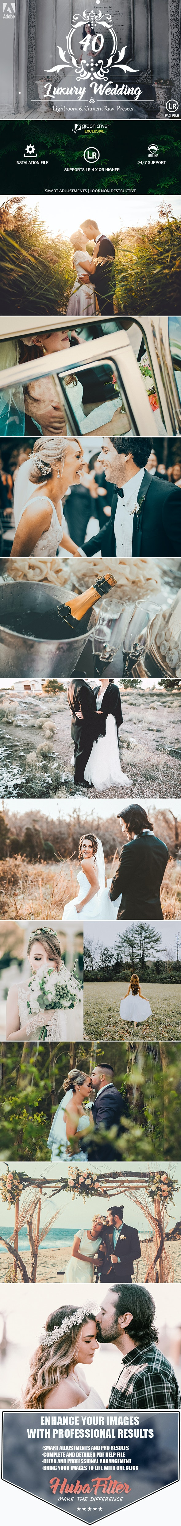 40 Luxury Wedding Lightroom and Camera RAW Presets