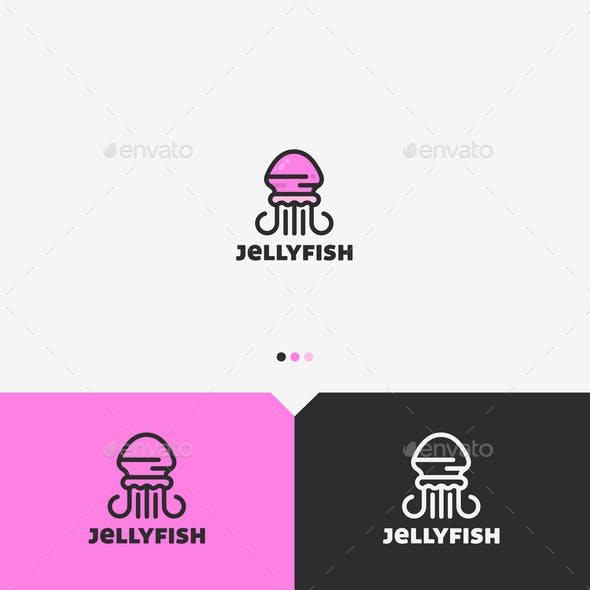 Jellyfish Logo Template