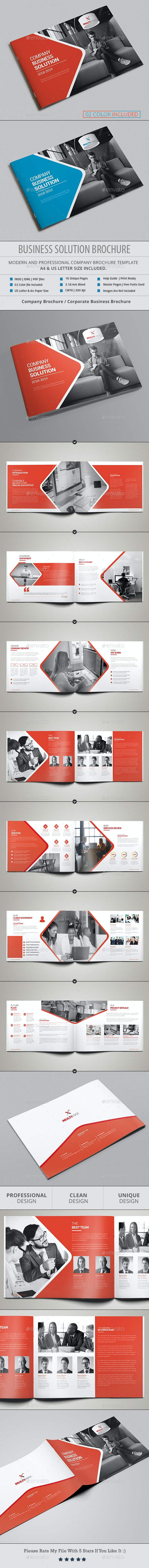 Landscape Brochure Template - Corporate Brochures
