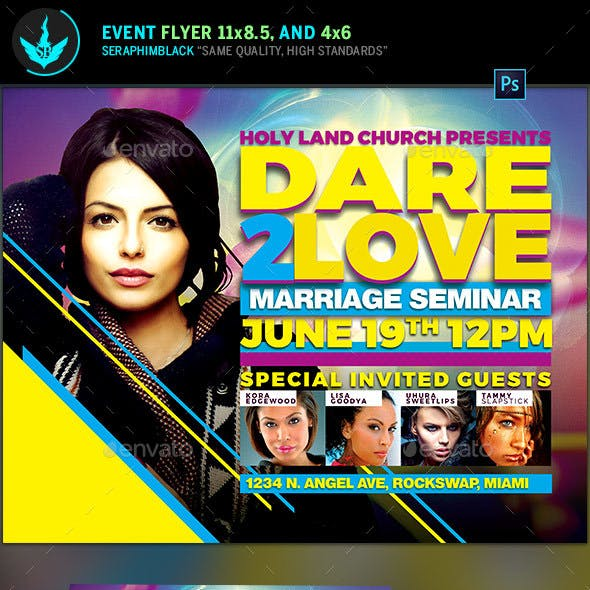 Marriage Ministry Church Flyer Template