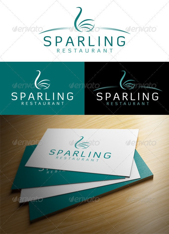 'Sparling Restaurant' Logo - Restaurant Logo Templates