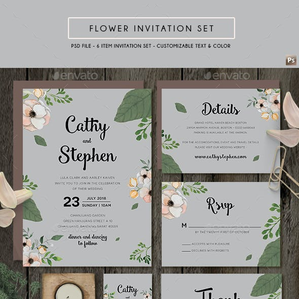 Flower Invitation