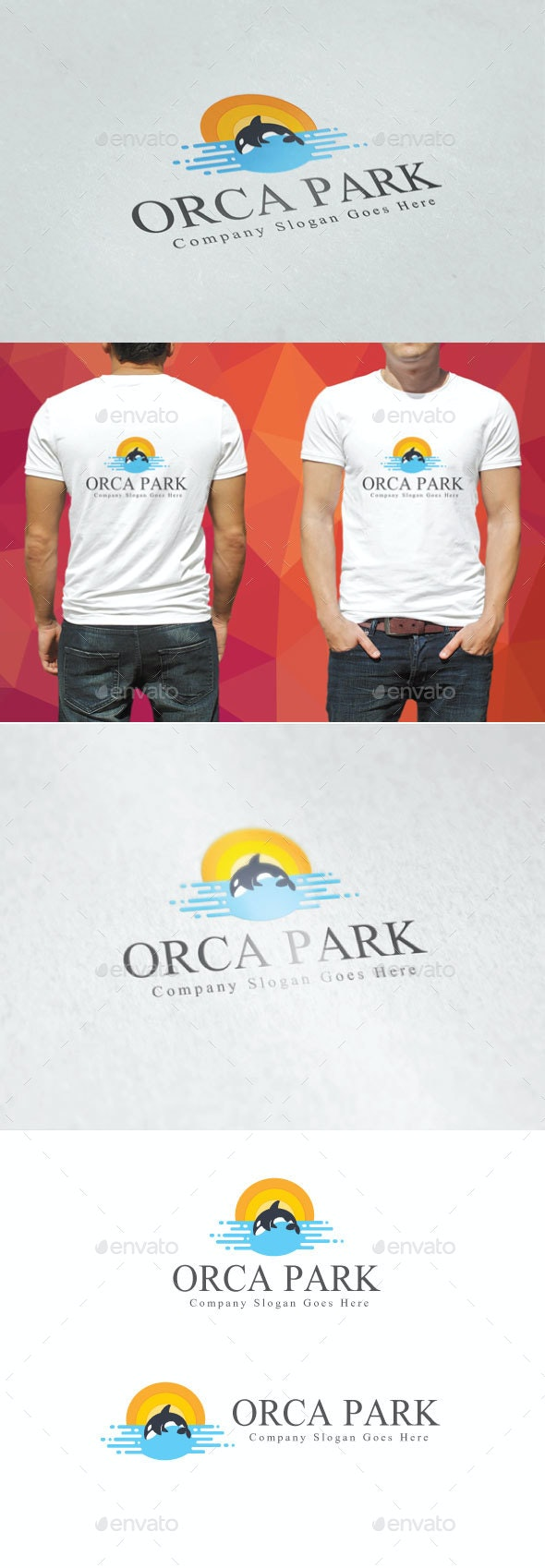 Orca Park Logo - Animals Logo Templates