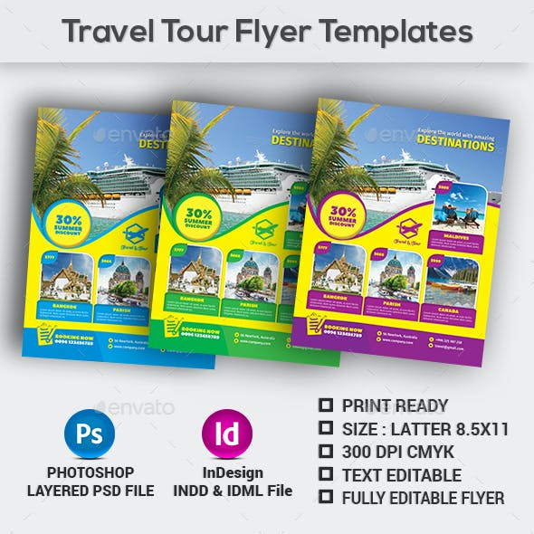 Travel Tour Flyer Templates