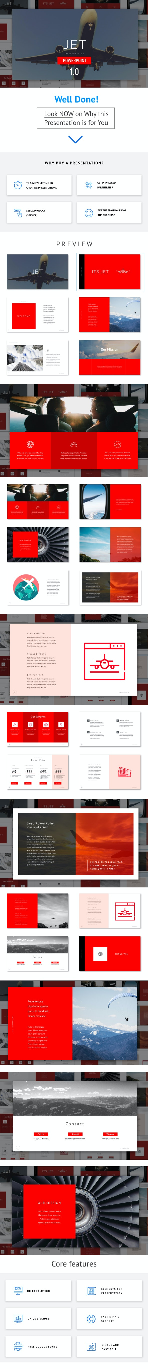 Airplane - Powerpoint Template - PowerPoint Templates Presentation Templates
