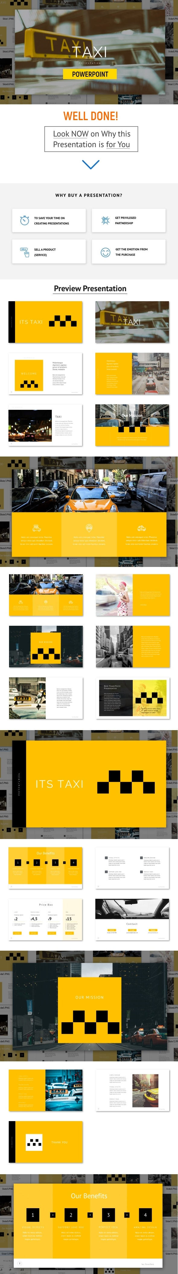 Taxi - Powerpoint Template - PowerPoint Templates Presentation Templates