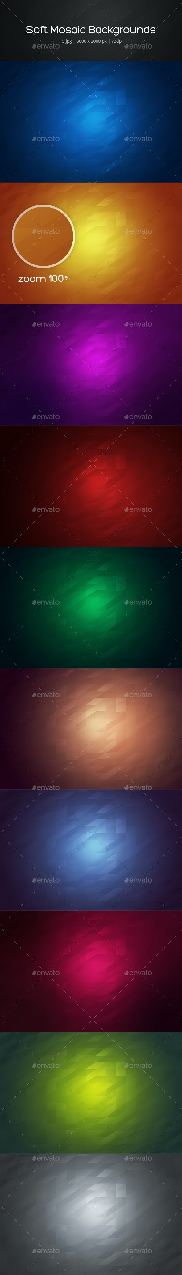 Soft Mosaic Backgrounds - Backgrounds Graphics