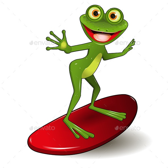 Frog Surfer - Animals Characters