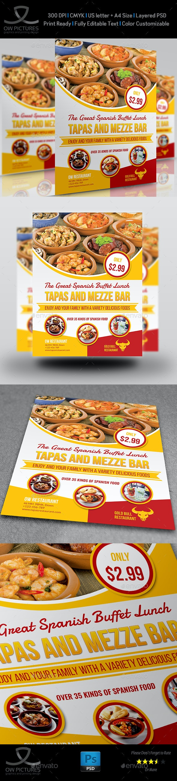 Restaurant Flyer Template Vol.14 - Restaurant Flyers
