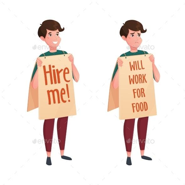 Job Street Search Decorative Icons - Miscellaneous Vectors
