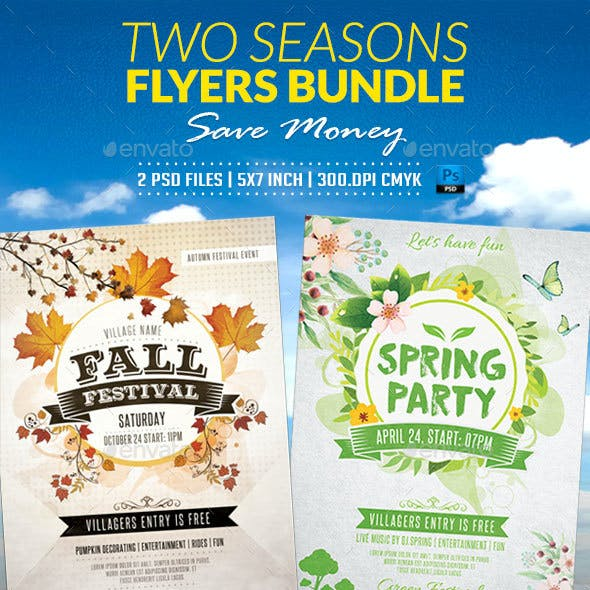 Two Seasons Flyers Bundle