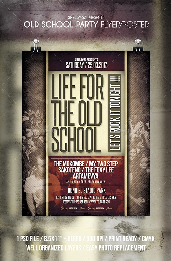 Old School Party Flyer / Poster - Events Flyers