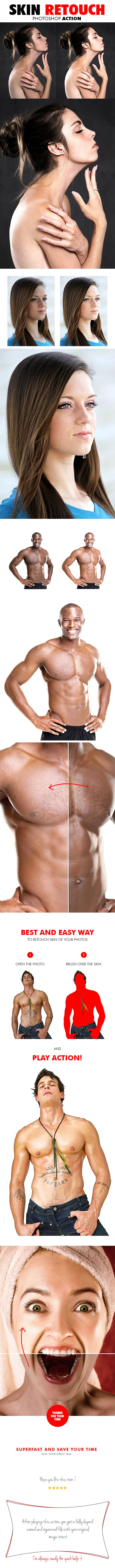 Skin Retouch Photoshop Action - Photo Effects Actions