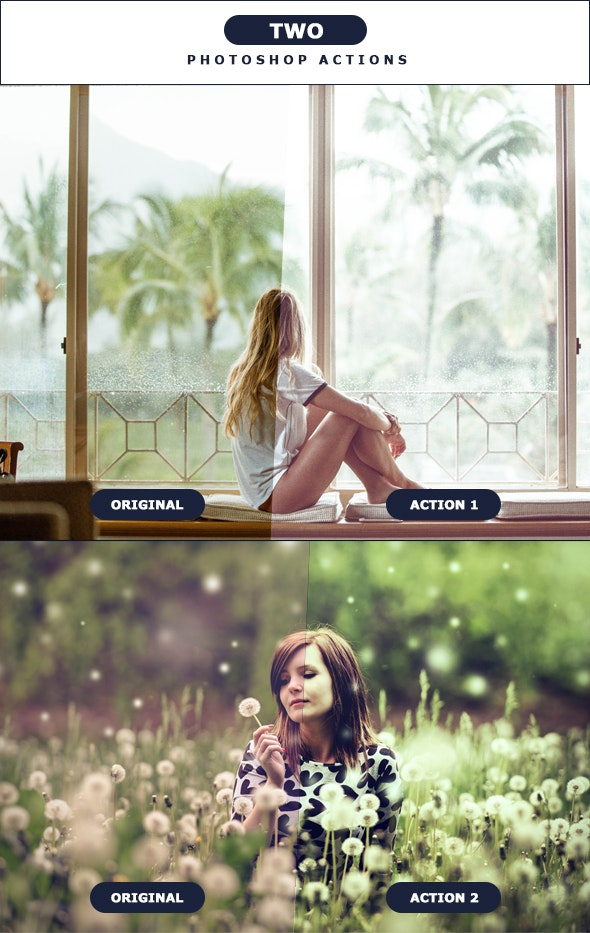 TWO - Photoshop Actions 3 - Photo Effects Actions