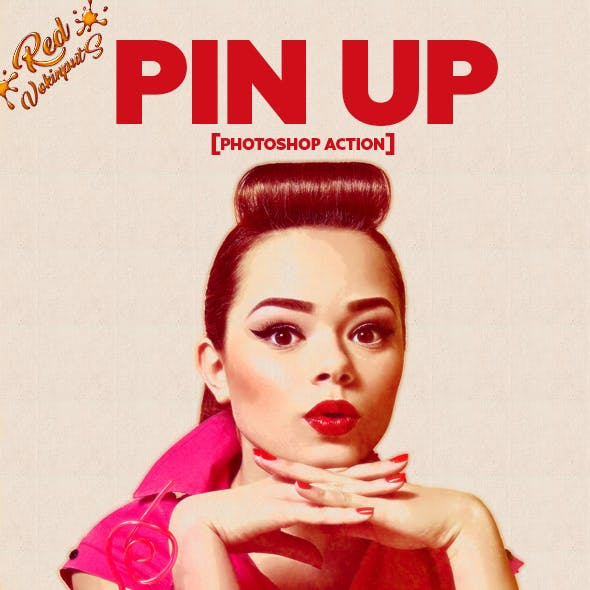 Pin Up Photoshop Action