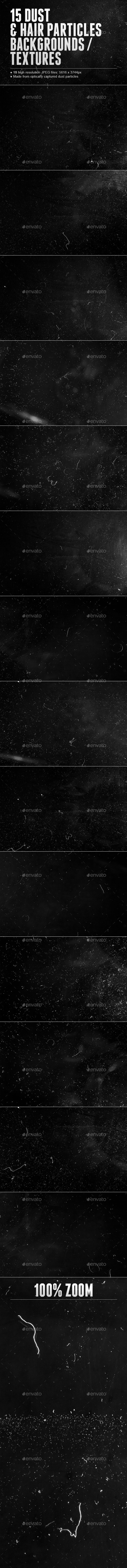 15 Dust and Hair Particles Backgrounds / Textures - Miscellaneous Textures