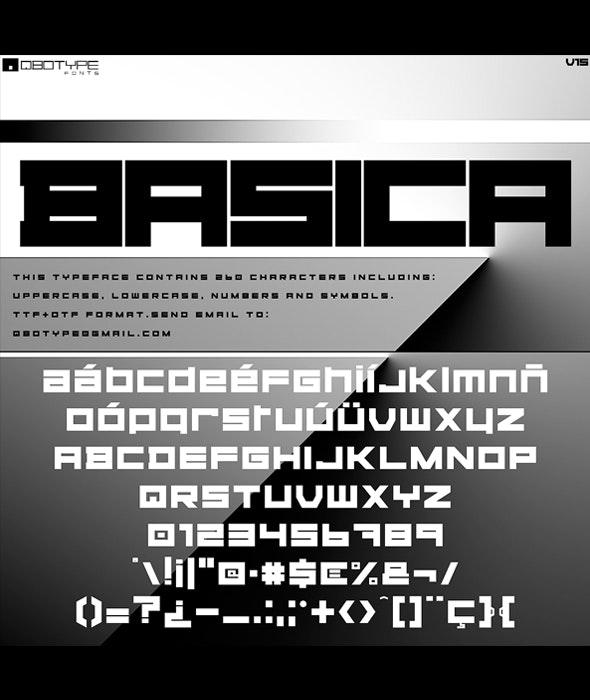 Basica v15 - Sans-Serif Fonts