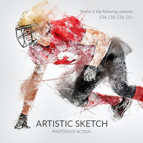 Artistic Sketch Photoshop Action