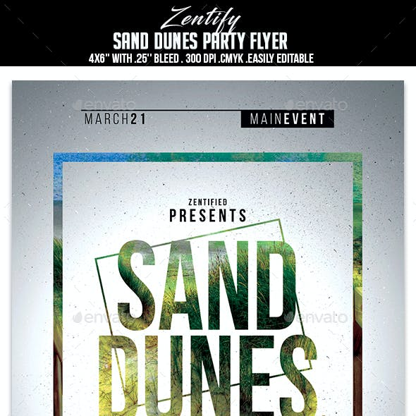 Sand Dunes Party Flyer