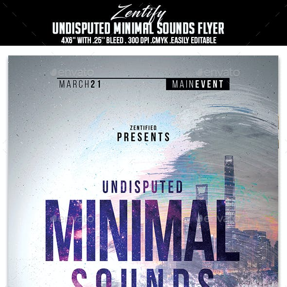 Undisputed Minimal Sounds Flyer