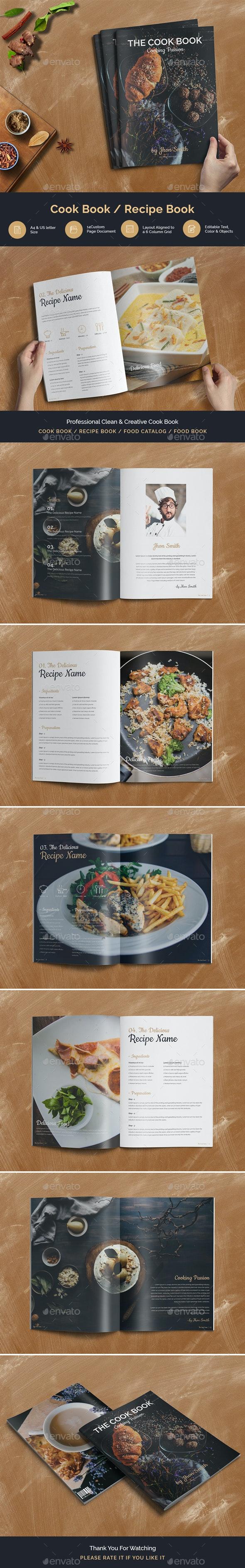 Cook Book - Print Templates