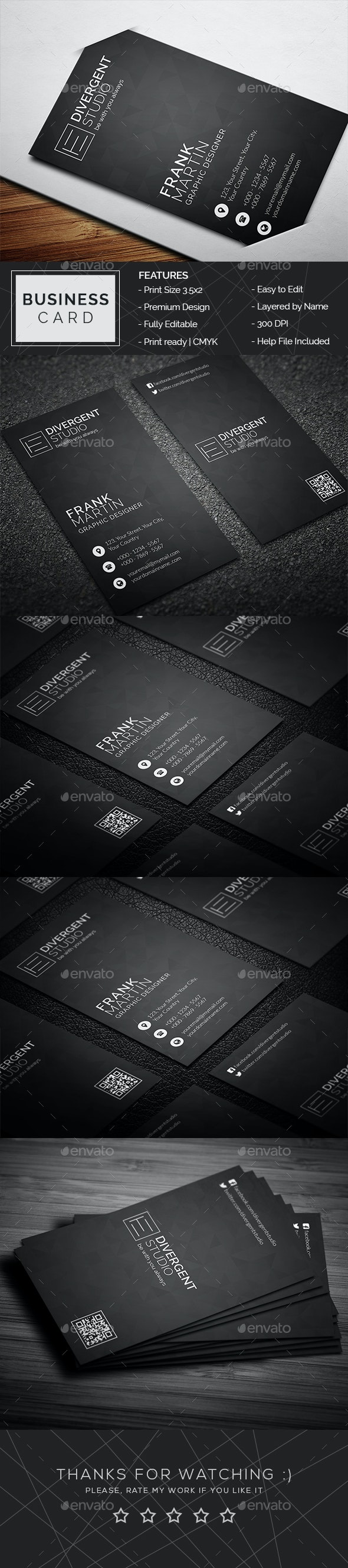 Minimal Business Card - Business Cards Print Templates