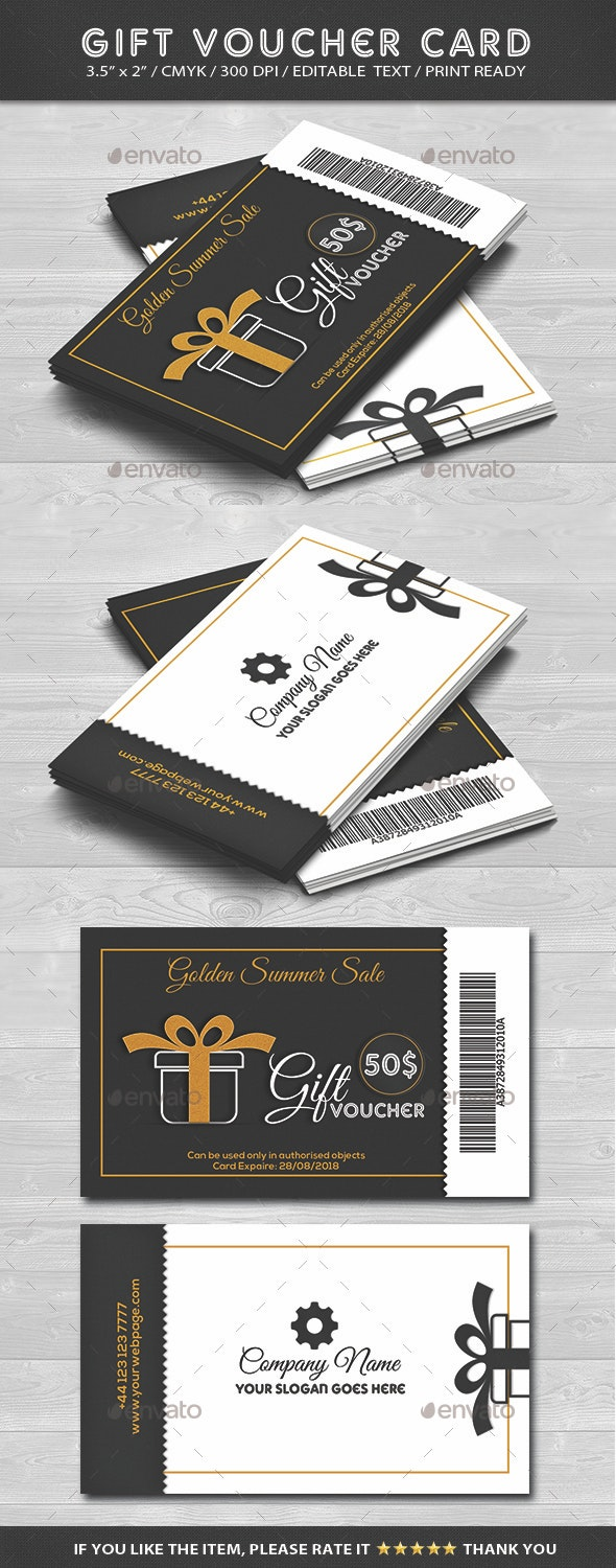 Gift Voucher Card - Cards & Invites Print Templates