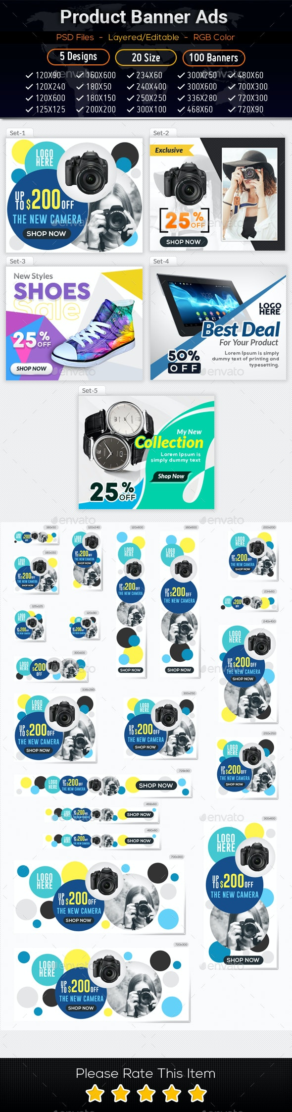 Product Ad Banners 04 - Banners & Ads Web Elements
