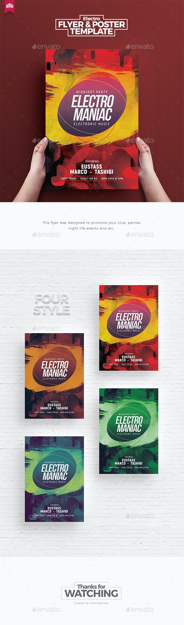 Electro Maniac - Flyer Template - Clubs & Parties Events