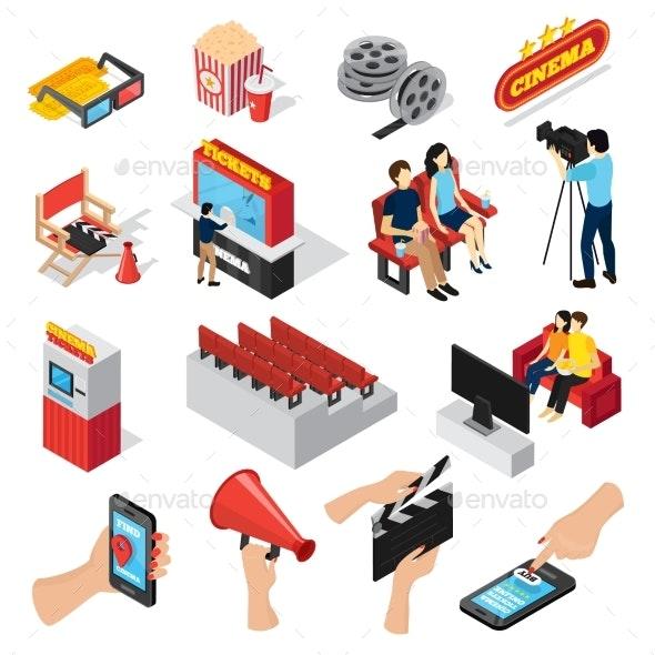 Cinema Elements Icon Set - Media Technology