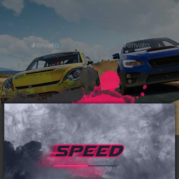Sci-fi Racing Game UI