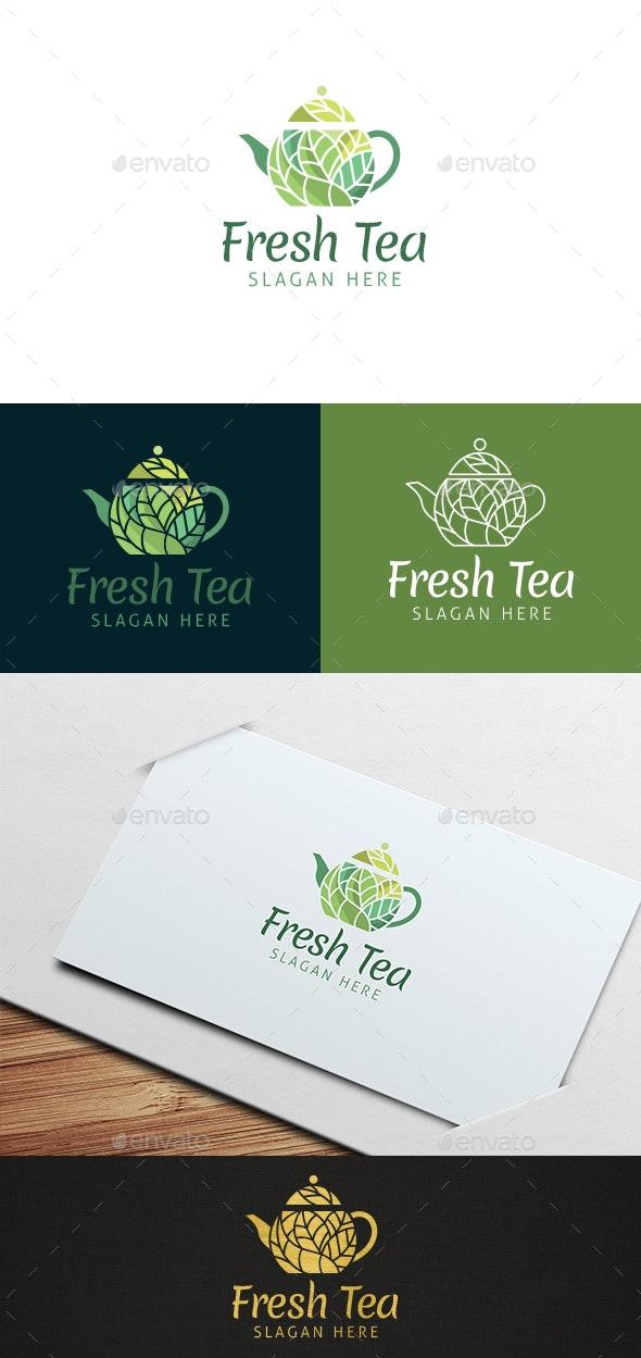 Fresh Tea Logo Template - Food Logo Templates
