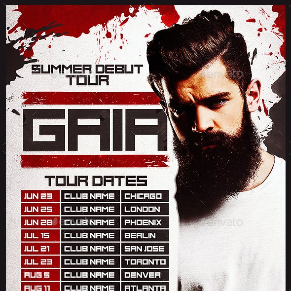 DJ Tour Dates Flyer Template