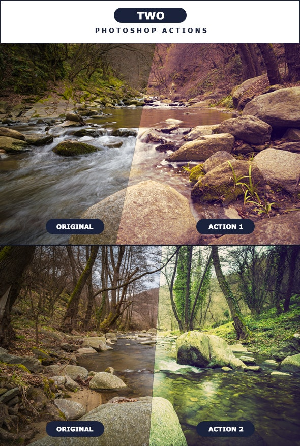 TWO - Photoshop Actions 4 - Photo Effects Actions