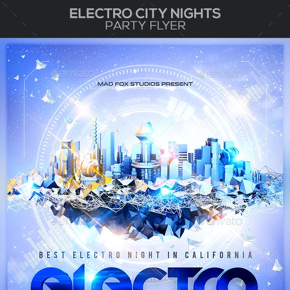 Electro City Nights Party Flyer