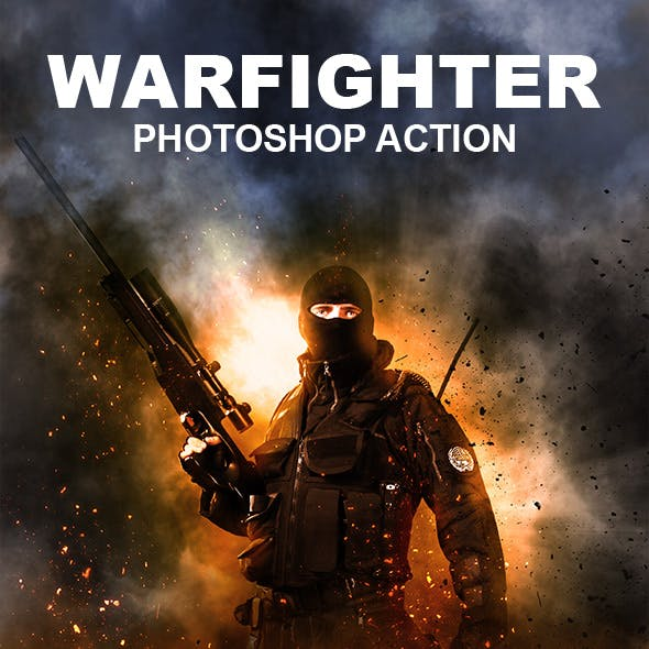 Warfighter Photoshop Action