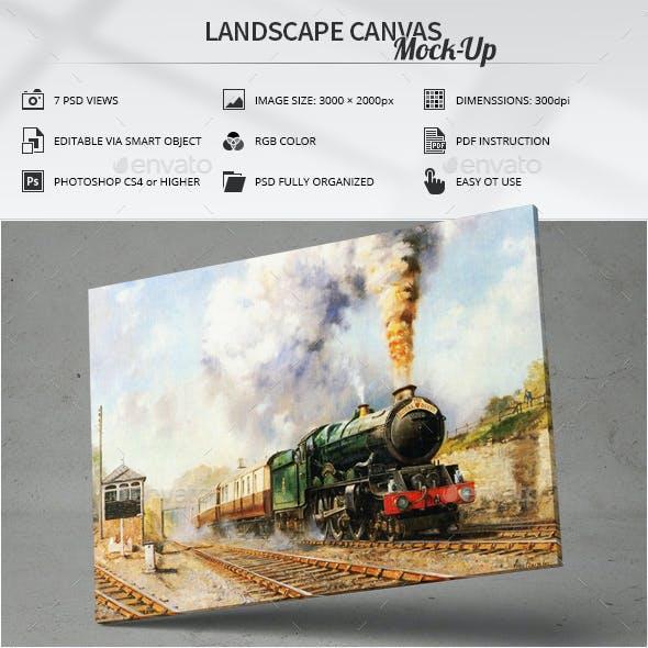 Landscape Canvas Mock-Up