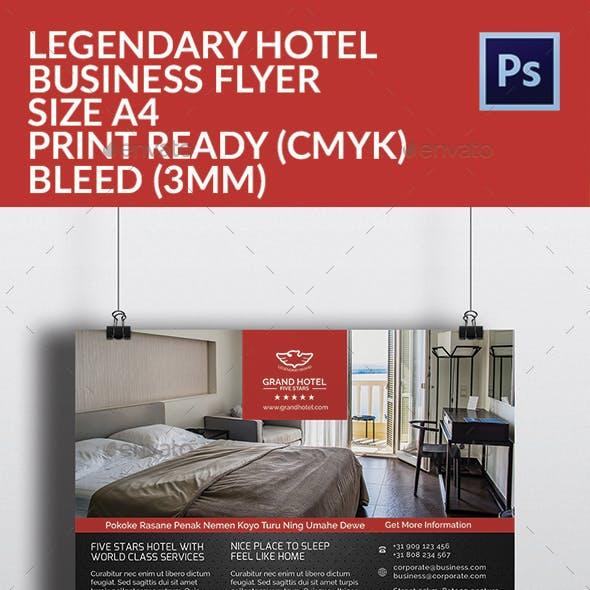 Legendary Hotel Flyer Template