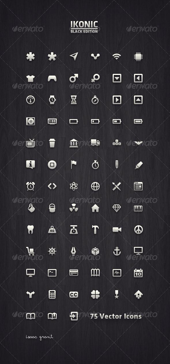 Ikonic Black - Vector Icons - Web Icons
