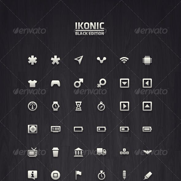 Ikonic Black - Vector Icons