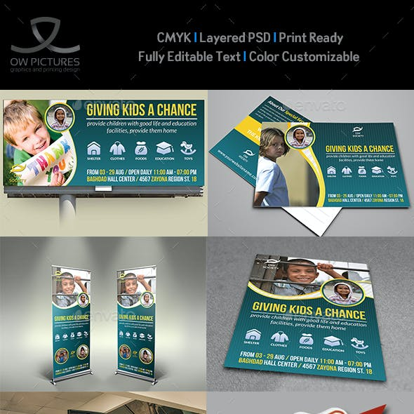 Kids Charity Advertising Bundle Template