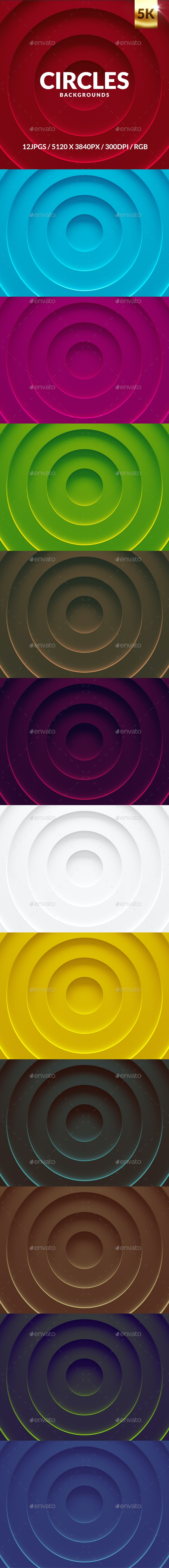 Circles Background - Backgrounds Graphics