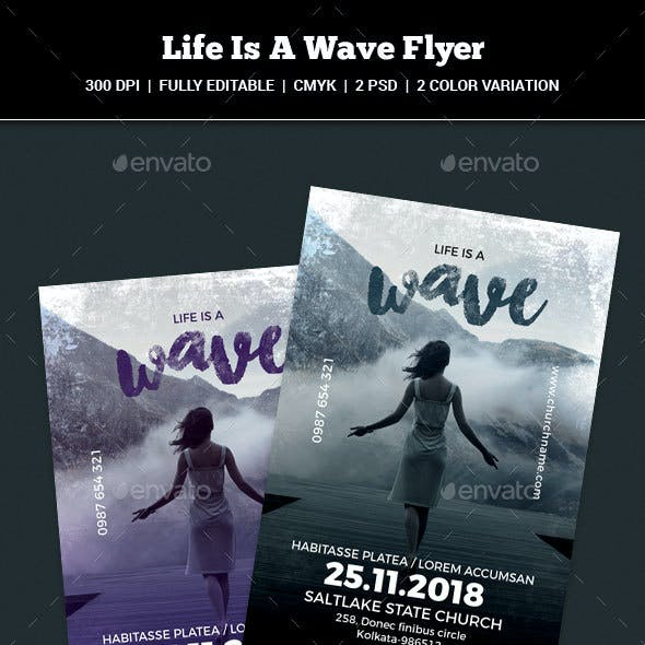 Life Is A Wave Flyer