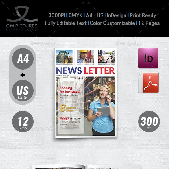 Multipurpose Newsletter - 12 Pages