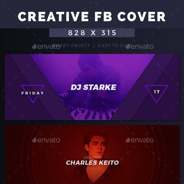 DJ New Creative Facebook Cover