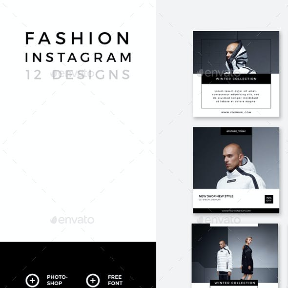 Fashion Instagram – 12 Designs