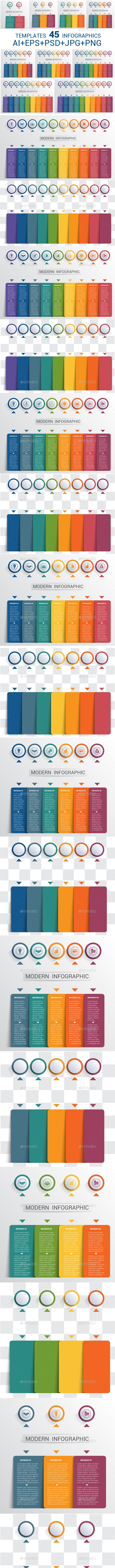 Template infographics 2,3,4,5,6,7,8,9,10 positions. - Infographics