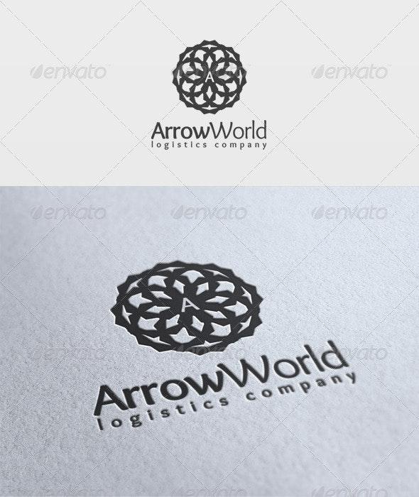 Arrow World Logo - Symbols Logo Templates