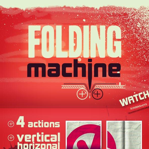 Folding Machine Mock-up Action