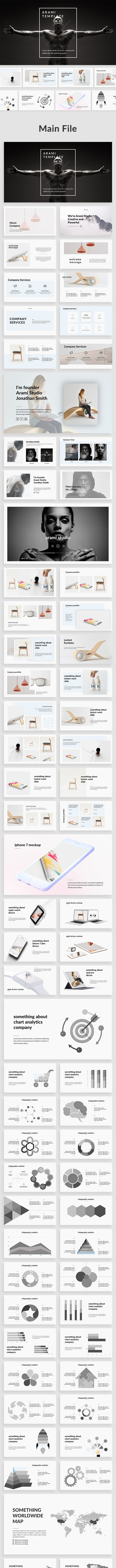 Arami - Creative Google Slide Template - Google Slides Presentation Templates